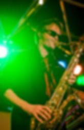 Jaap de Vries op saxofoon