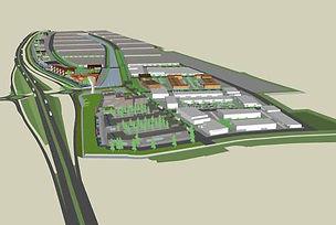 Schets van het toekomstige bedrijvenpark Zevenhuis in Hoorn