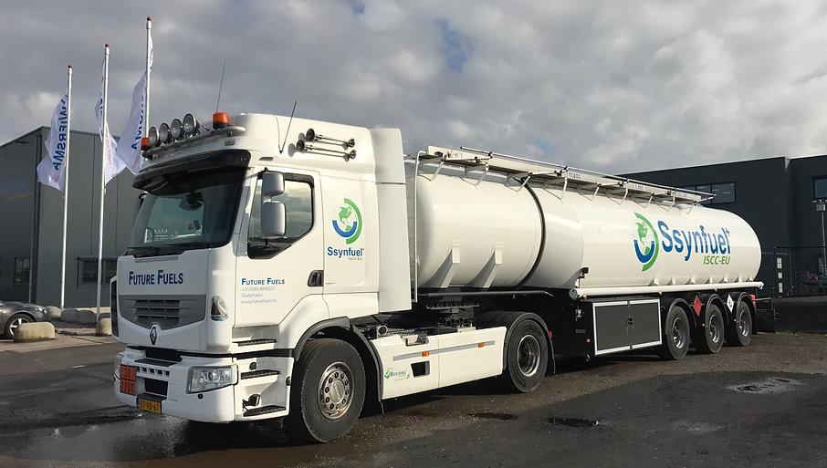 Tankwagen van Future Fuels op Ssynfuel+