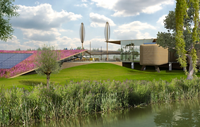 The Ecomunity park is an example of sustainable urban development