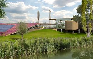 Toekomstbeeld van het Ecomunitypark in Oosterwolde