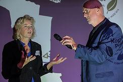 Ada Kruiter tijdens het Koplopersymposium Midden-Groningen
