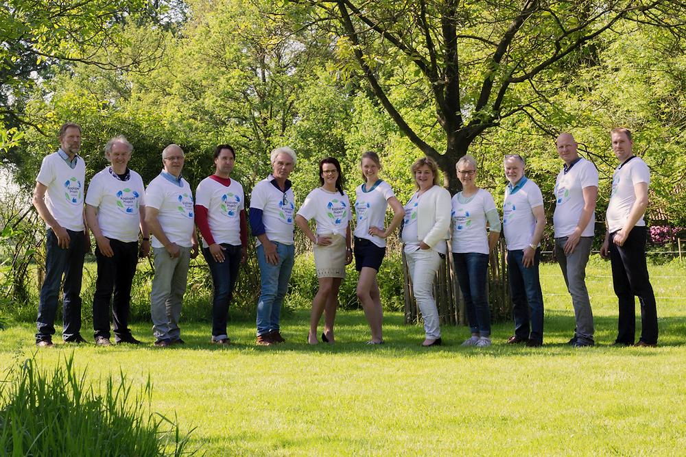 Deelnemers aan het Koploperproject voedselketens in Oost-Groningen