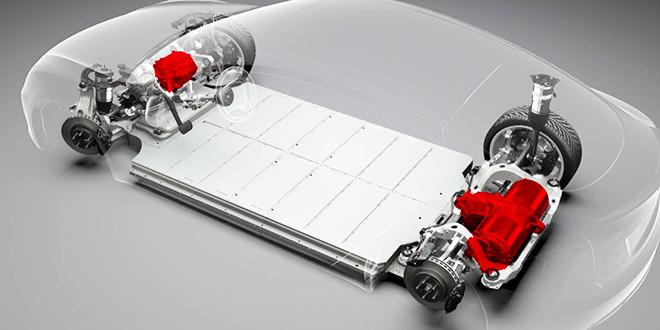 Het onderstel van de Model S