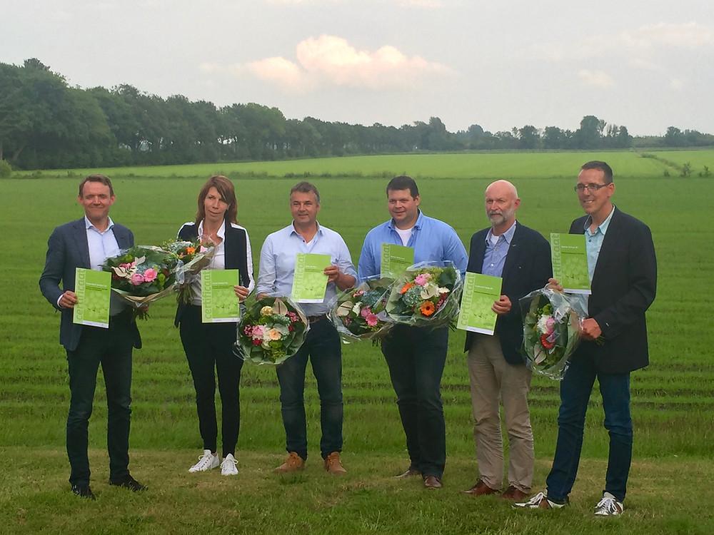 Koplopers Weststellingwerf met hun certificaat