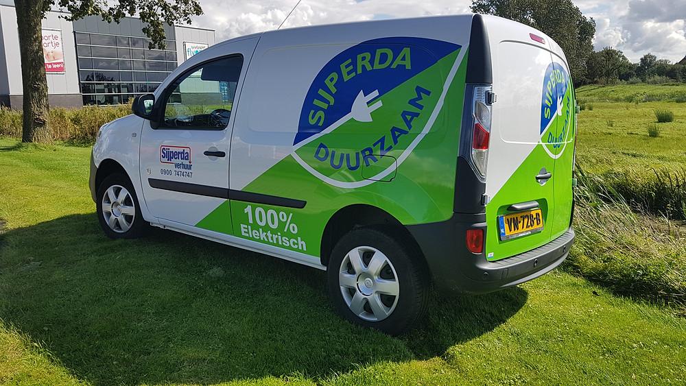 De elektrische bedrijfswagen van Sijperda Verhuur