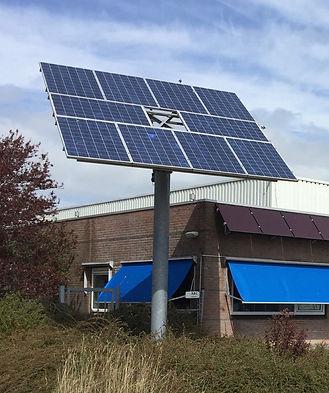De solar tracker van Technea die meebeweegt met de zon