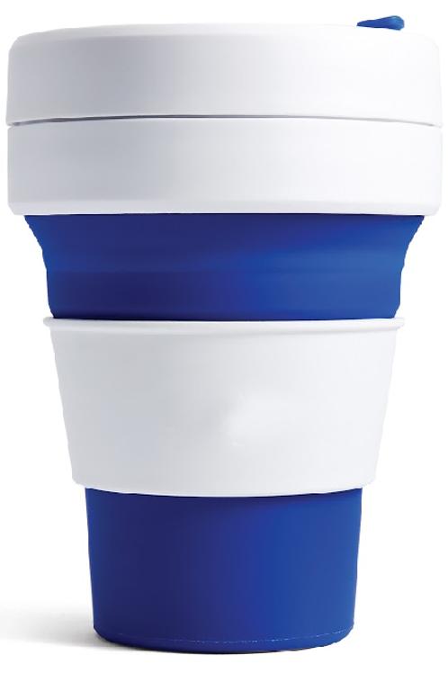 Stojo Faltbarer Becher 355 ml Wiederverwendbar, Silikon, BPA-frei