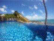 piscina borda infinita morro, morro de sao paulo, pousada com piscina morro