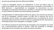 CIPA - Comissão Interna de Prevenção de Acidentes
