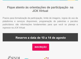 Fique atento às orientações de participação  na JCK Virtual