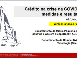 Crédito na crise da COVID-19: medidas e resultados