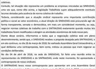 Vigência Convenção Coletiva de Trabalho 2017/2018