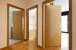 beautiful apartment, interior, wooden do