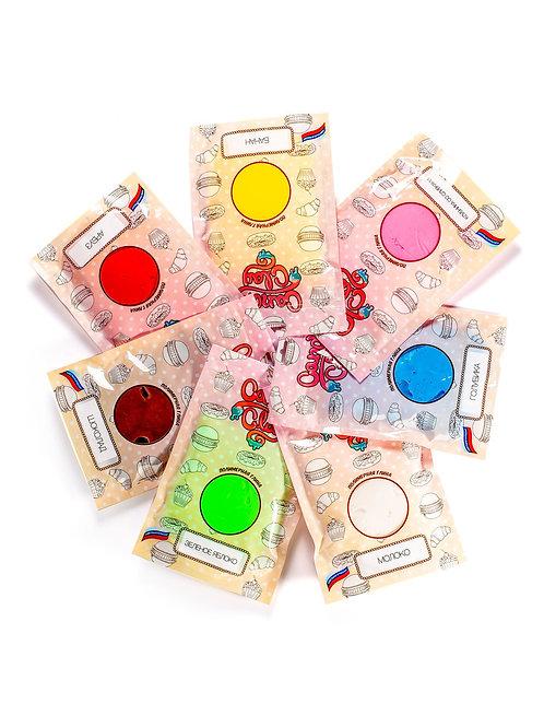 """Набор для лепки """"Полимерная глина, 7 цветов, большие упаковки"""