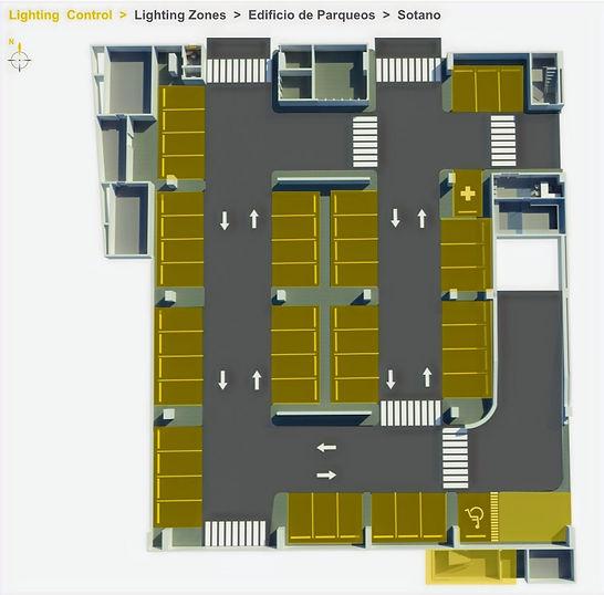 Control Iluminación Parqueos y estacionamientos a través de Ecostruxure de Schneider Electric por Transfertec Ingeniería