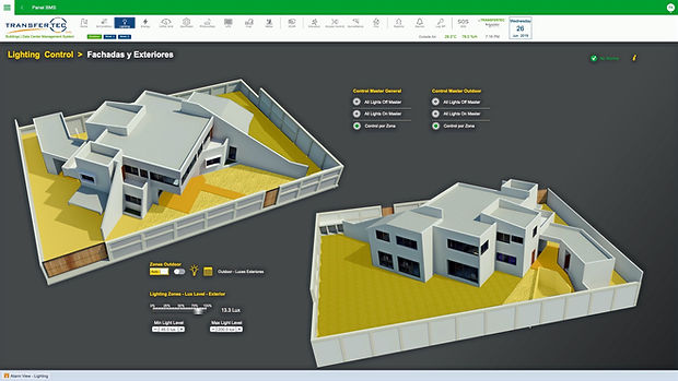 Mapa de Iluminación para control y ahorro de energía a través de Ecostruxure de Schneider Electric por Transfertec Ingeniería