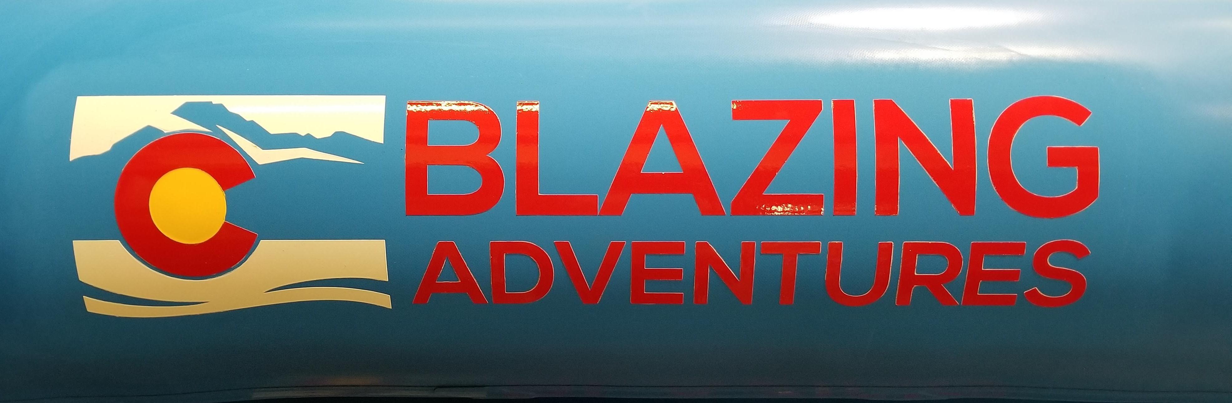 Blazing Adventures Rafting Logo