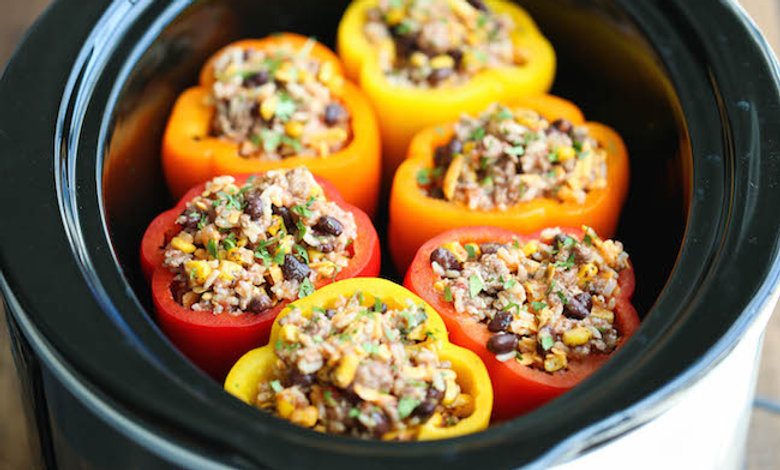 Oceanside Beef and Wild Rice or Quinoa Stuffed Peppers
