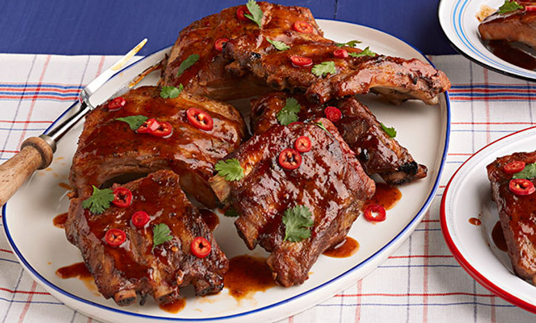Mesquite Smoked Thai BBQ Baby Back Ribs