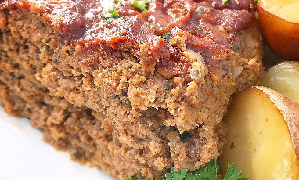 Mission Beach Meatloaf and Sweet Potatoes