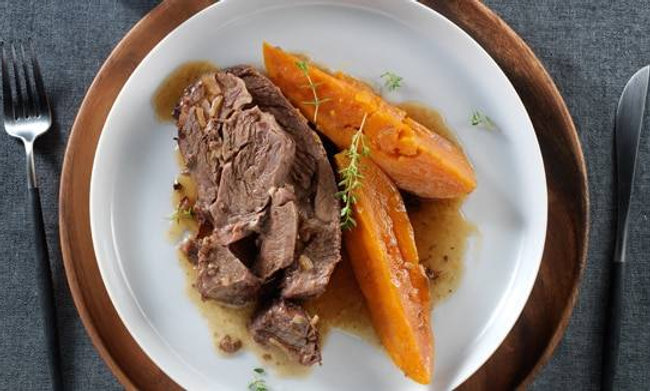 San Carlos Pot Roast with Sweet Potatoes