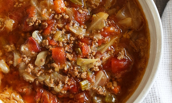 Scripps Ranch Beef and Cabbage Soup