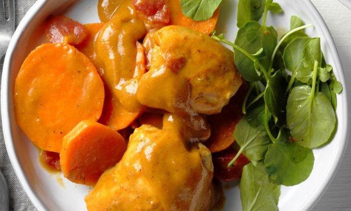 Malaysian Chicken Peanut Curry and Sweet Potato