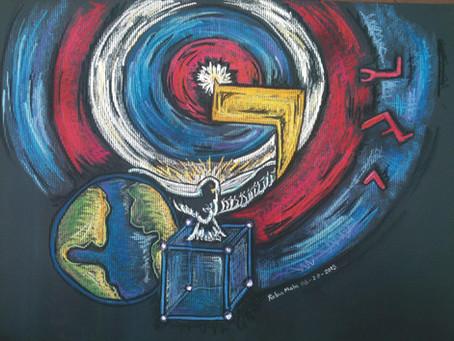 HEBREW LIVING LETTER ™ - YUD - DIVINE POINT OF ENERGY