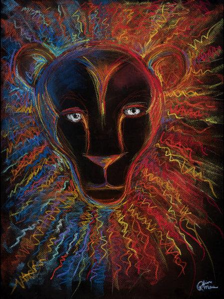 FIRE & ICE ENOCH LION ...Original Art