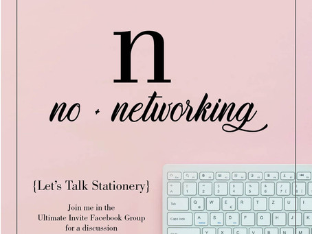 The Art of Saying No + Networking