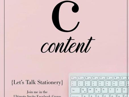 C =  content
