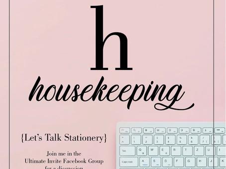 h - housekeeping