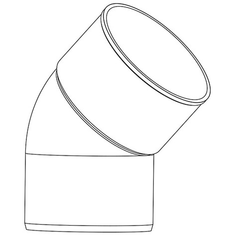 SEMICURVA A 45° PVC R