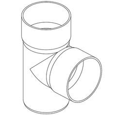BRAGA A 90° PVC R