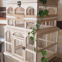 Grande cage à oiseaux bois viellit