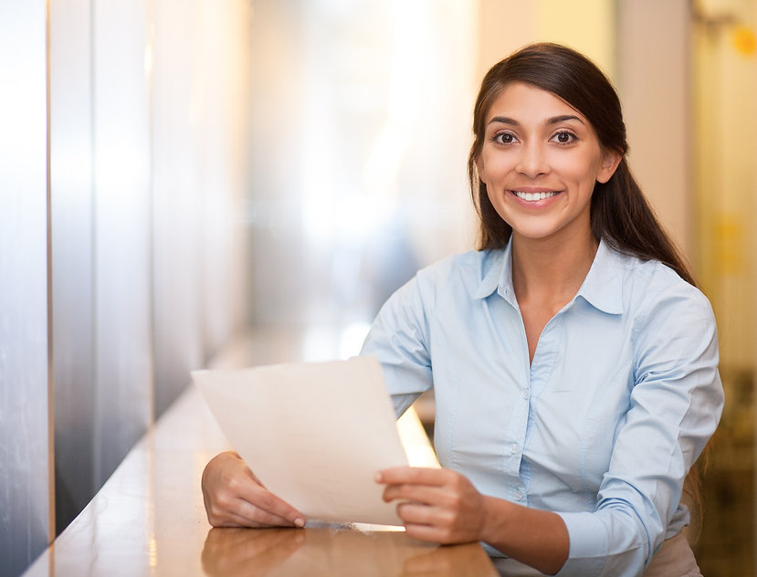 smiling-pretty-woman-holding-document-ca