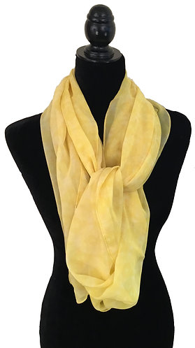 'Yellow' Long Scarf (silk georgette)