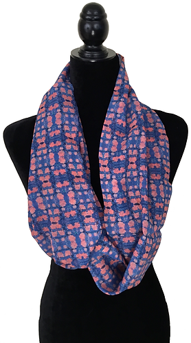 'Spring Blossoms' Infinity Scarf (silk georgette)
