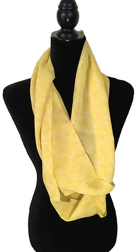 'Yellow' Infinity Scarf (silk georgette)
