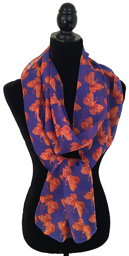 'Grace' Long Scarf (silk georgette)