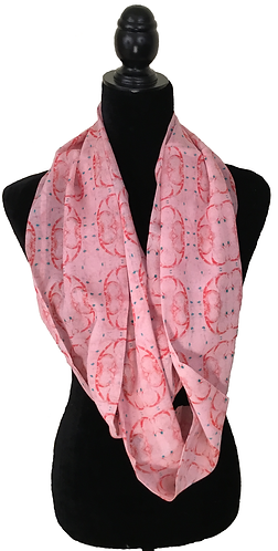 'Rose Window' Infinity Scarf (silk georgette)