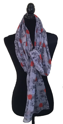 'Cool Purple' Long Scarf (silk georgette)