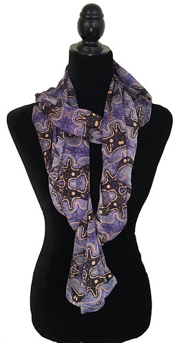 'Science' Long Scarf (silk georgette)