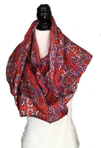 'Beauty Blooms' Long Scarf (silk habotai)