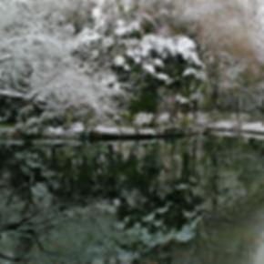 Reflection, Xueshi garden in winter