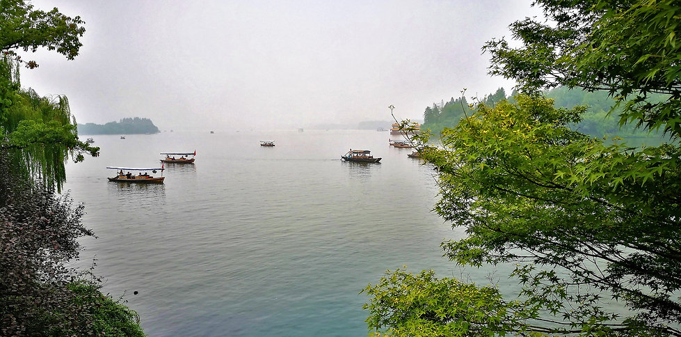 View from Su causeway, Hangzhou