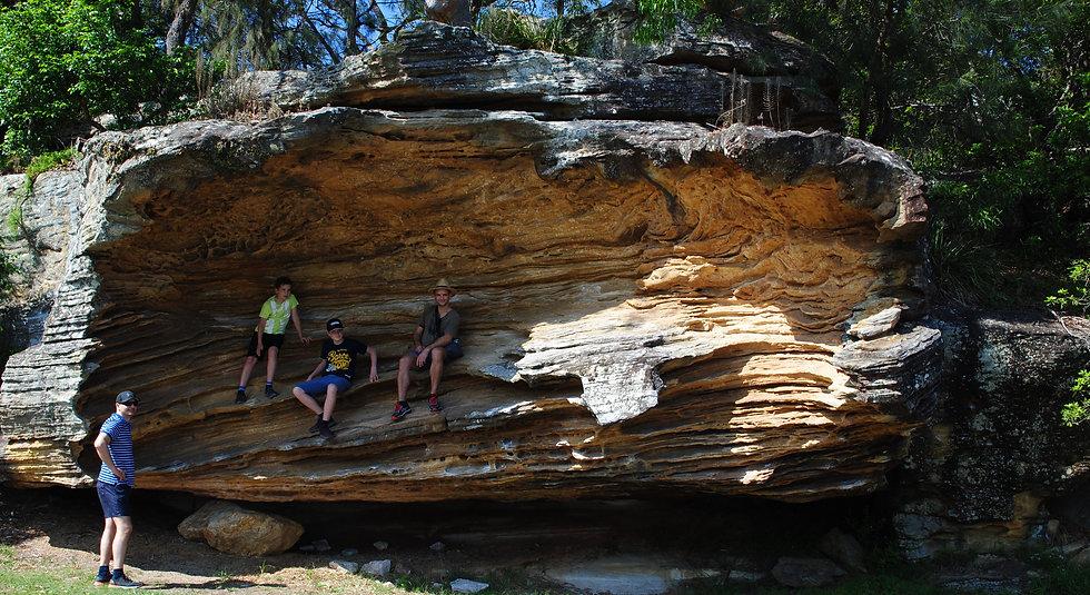 Hawkesbury sandstone, Sandy Bay, Sydney
