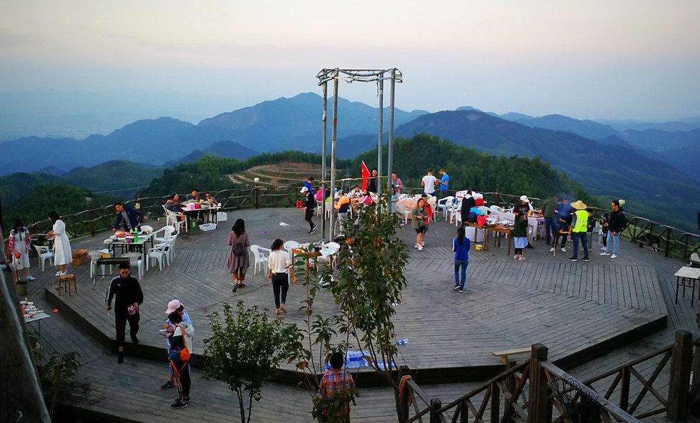 Luxury tent camp, China
