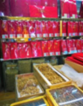 Ginseng roots at Wulin squar, Hangzhou
